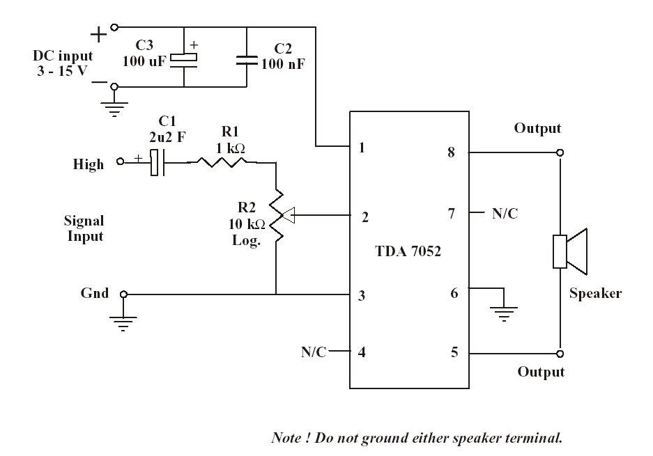 1w mono amplifier with ic tda70521w Mono Amplifier With Ic Tda7052 #1