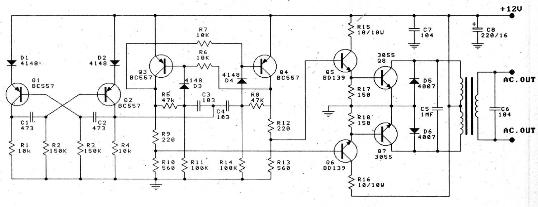12v to 220v 100w transistor inverter for Transistor inverseur