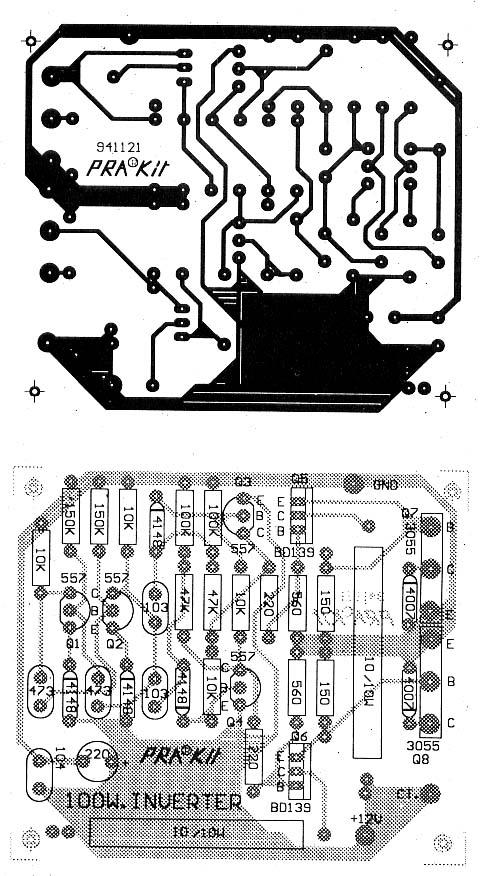 12v To 220v 100w Transistor Inverter