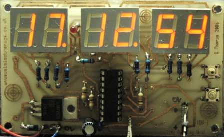 Time Display unit for a GPS module