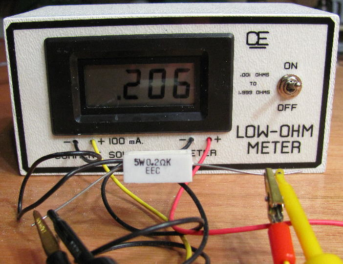 4 Wire Ohmmeter : Low ohm meter measures up to
