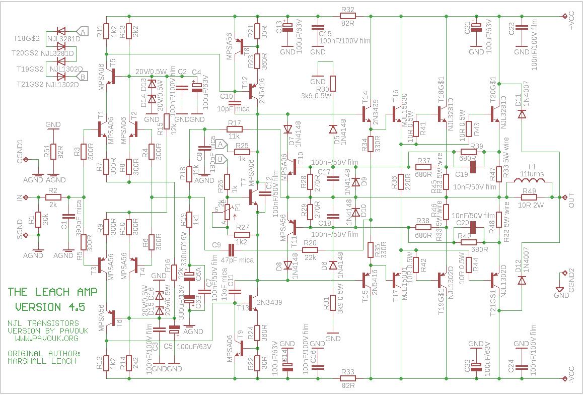 gryphon wiring diagram 200w leach amplifier  200w leach amplifier