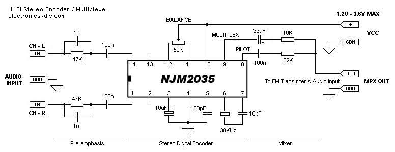 Njm2035 Hi Fi Stereo Encoder Multiplexer