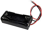 2 AAA Battery Holder with Leads