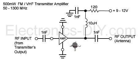 500mW FM / VHF Transmitter Amplifier / Booster