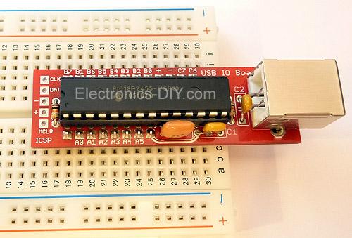 USB IO Board PIC18F2455 / PIC18F2550