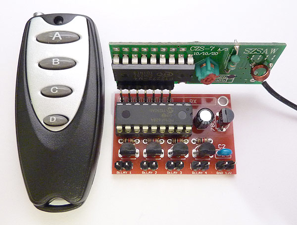 4-Channel 433MHz Wireless RF Remote Control Kit (200m)