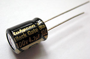 10uF / 50V Rubycon Black Gate Capacitor - High-End  Audio Capacitor