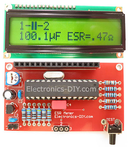 ESR Meter / Transistor Tester / LC Meter Kit - Blue Backlight LCD