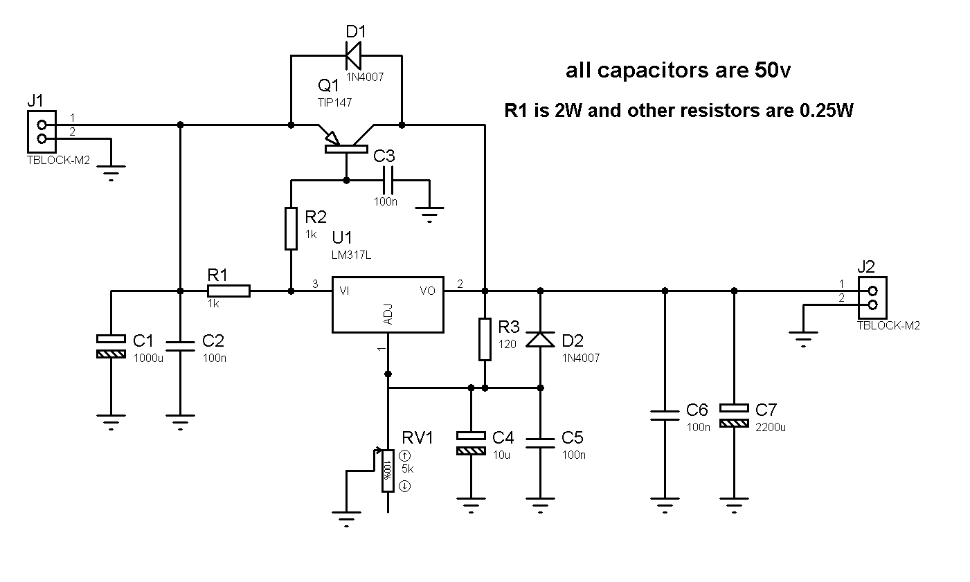 12 36v 5a Adjustable Power Supply With Lm317 Simple Transistor Circuit