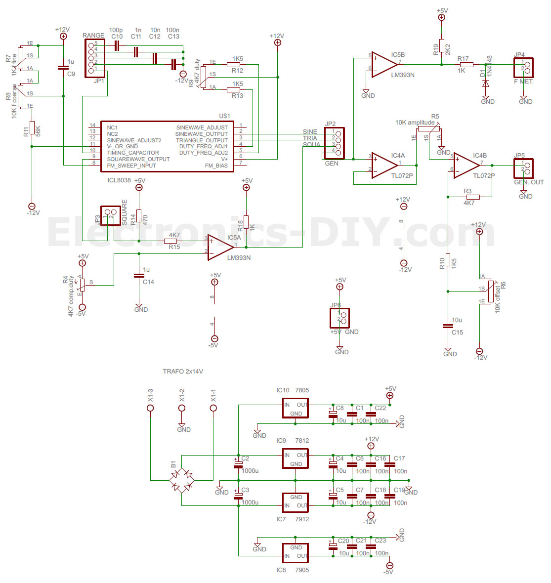 Icl8038 Function Generator Homemade 12v Wire Diagram