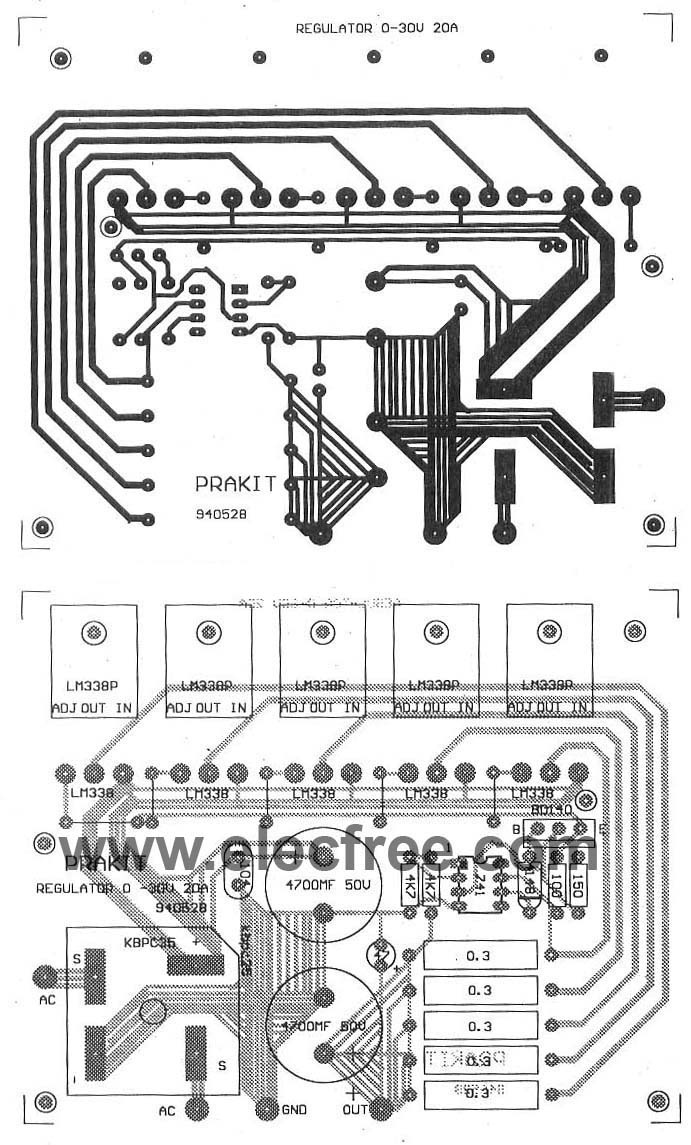 Power Supply 5 13v With Ic 7805 Amp Ca3140 0 30v Circuit Diagram Wiring Library