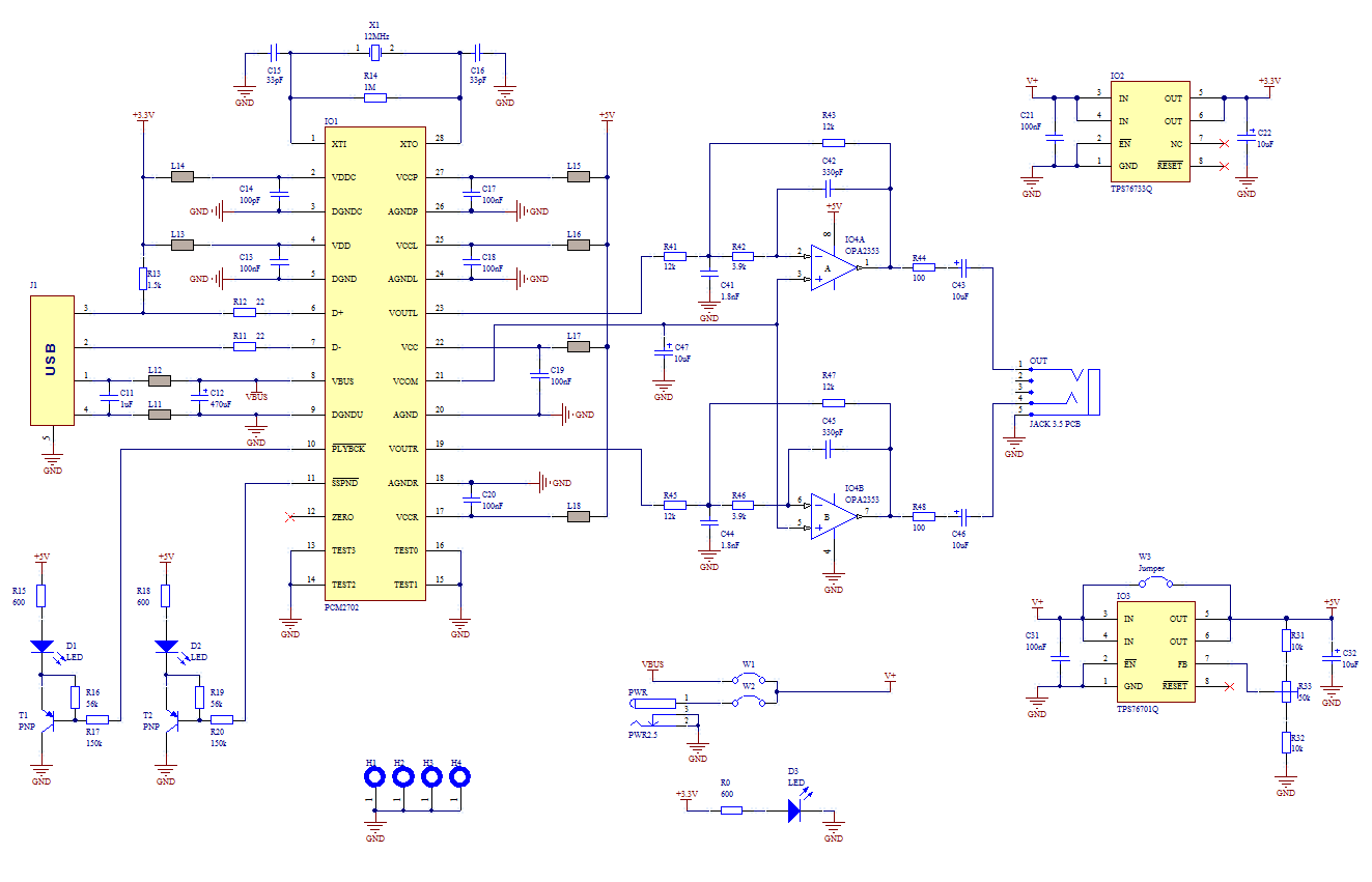 Usb Sound Card With Pcm2702 Schematic