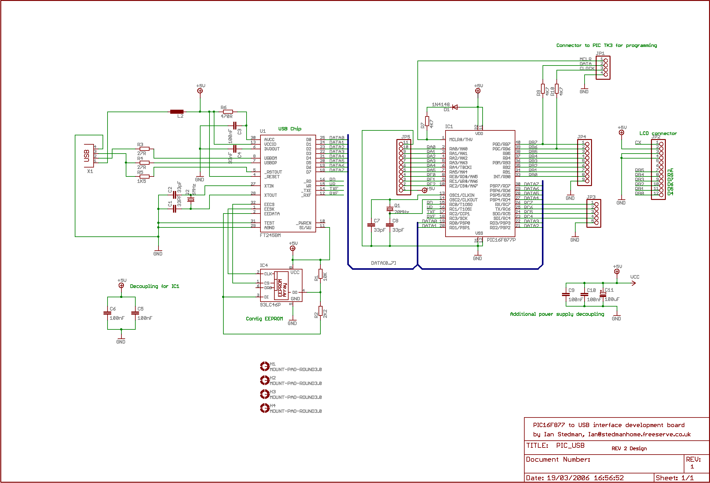 Usb Schematic Wiring Library Circuit Diagram Pic Interface With Ft245
