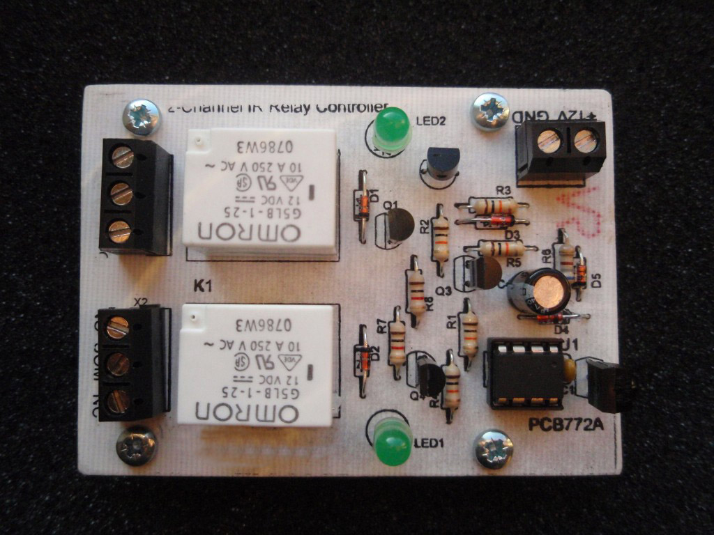 2 Channel Ir Relay Controller For Circuit