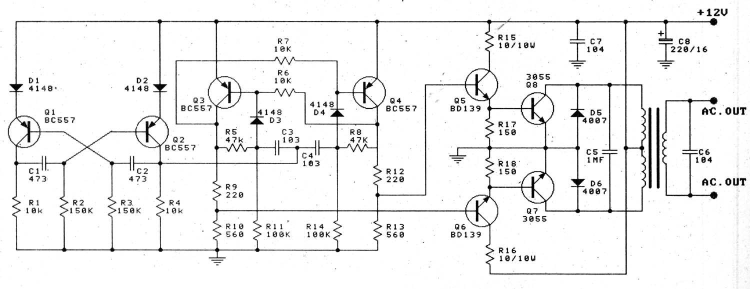 12v 100w Amplifier Circuit Diagram Projects To 220v Transistor Inverterdesign