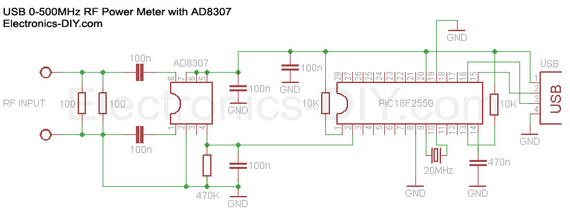 RF Power Meter with AD8307