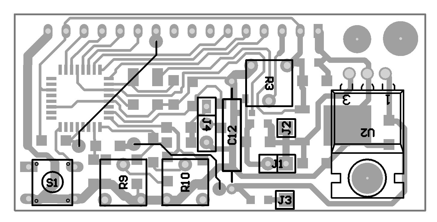 Microcontroller Voltmeter Ammeter With Lcd Digital Multimeter Using 8051 Schematic Pcb Layout Bottom
